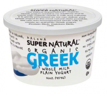Kalona Super Natural - Yogurt, Organic Greek, Whole Milk, Plain - 16 Ounces