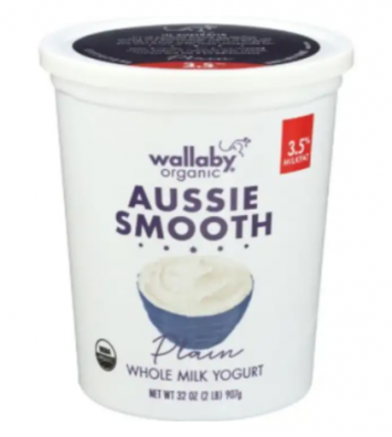 Wallaby Organic - Aussie Smooth Plain Yogurt - 32 Ounces