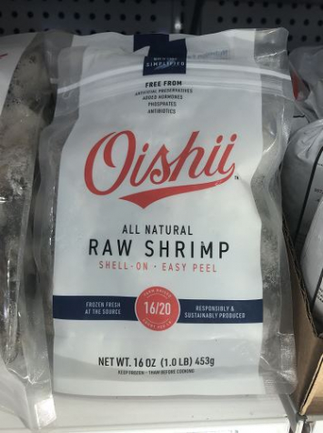 Oishii 1 lb Frozen Sustainable Shrimp, Easy Peel