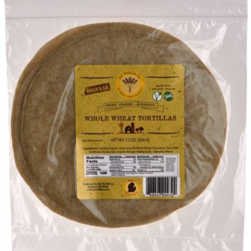Organic Whole Wheat Tortillas (Small)