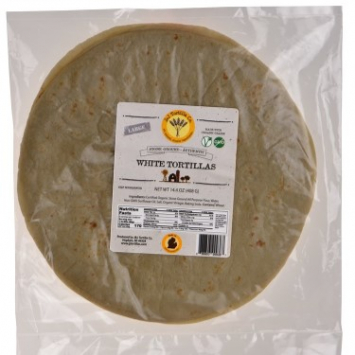 Organic White Tortillas (Large)