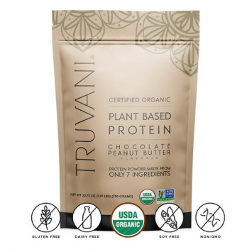 Organic Chocolate Peanut Butter Protein Powder, Plant-Based
