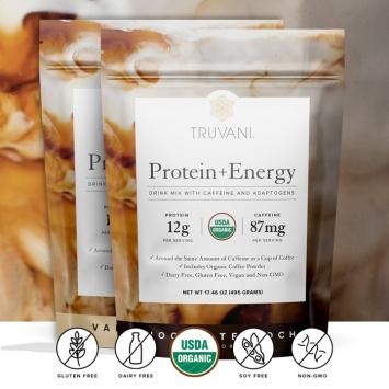 Organic Mocha Protein Energy Powder, Plant-Based