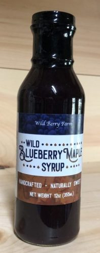 Wild Blueberry Maple Simple Syrup