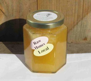 Honey - 12 oz hex jar of creamed honey