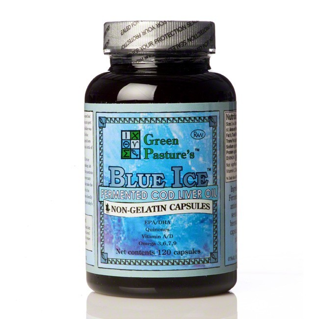 Cod Liver Oil, Blue Ice, Fermented, Capsules