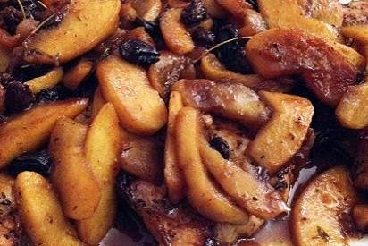 Apple Raisin Pork Chops