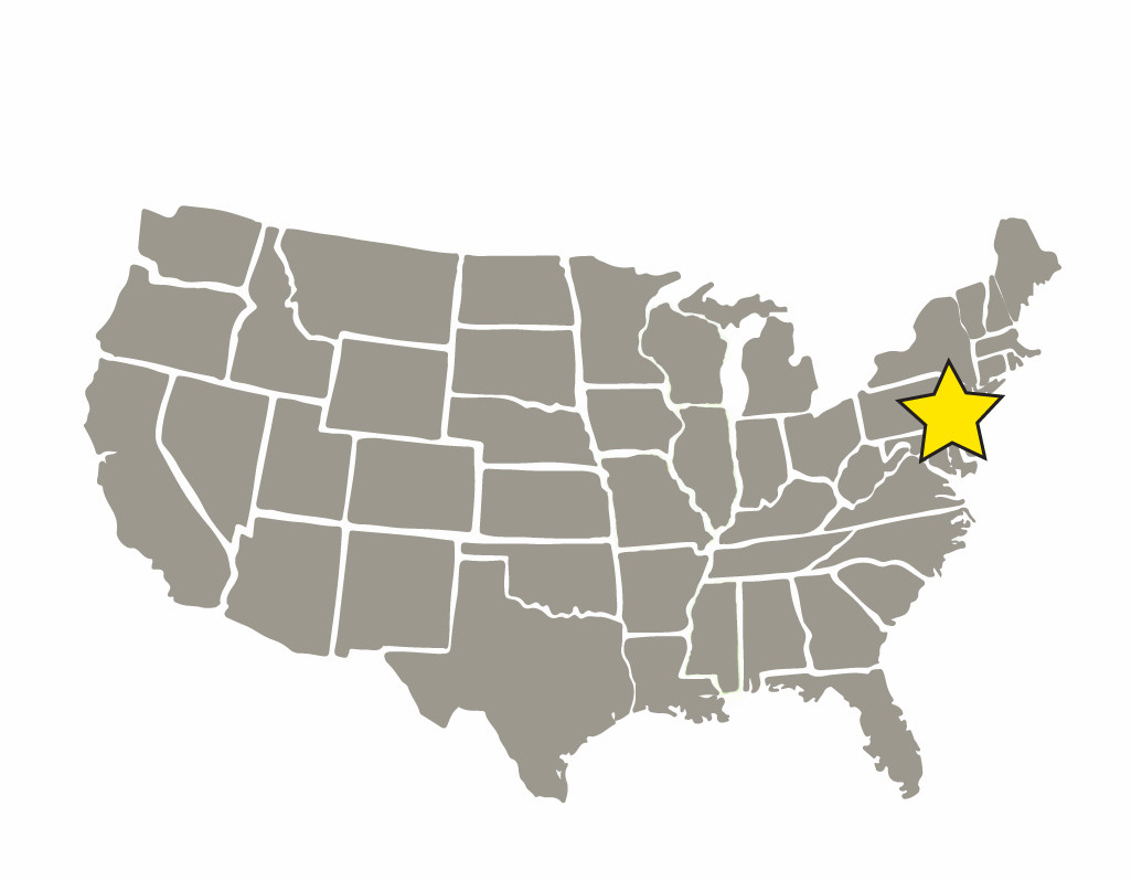 Select areas in PA and NJ