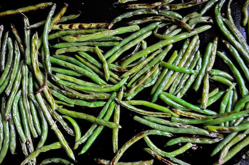 Roasted Green Beans & Lard