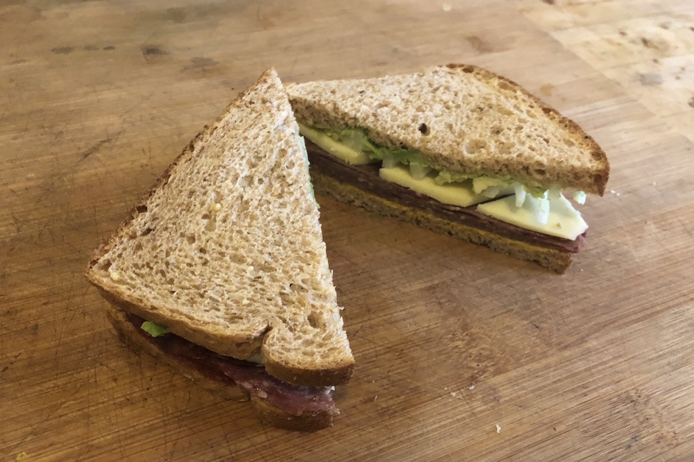 Sweet Bologna Sandwich with Einkorn Bread