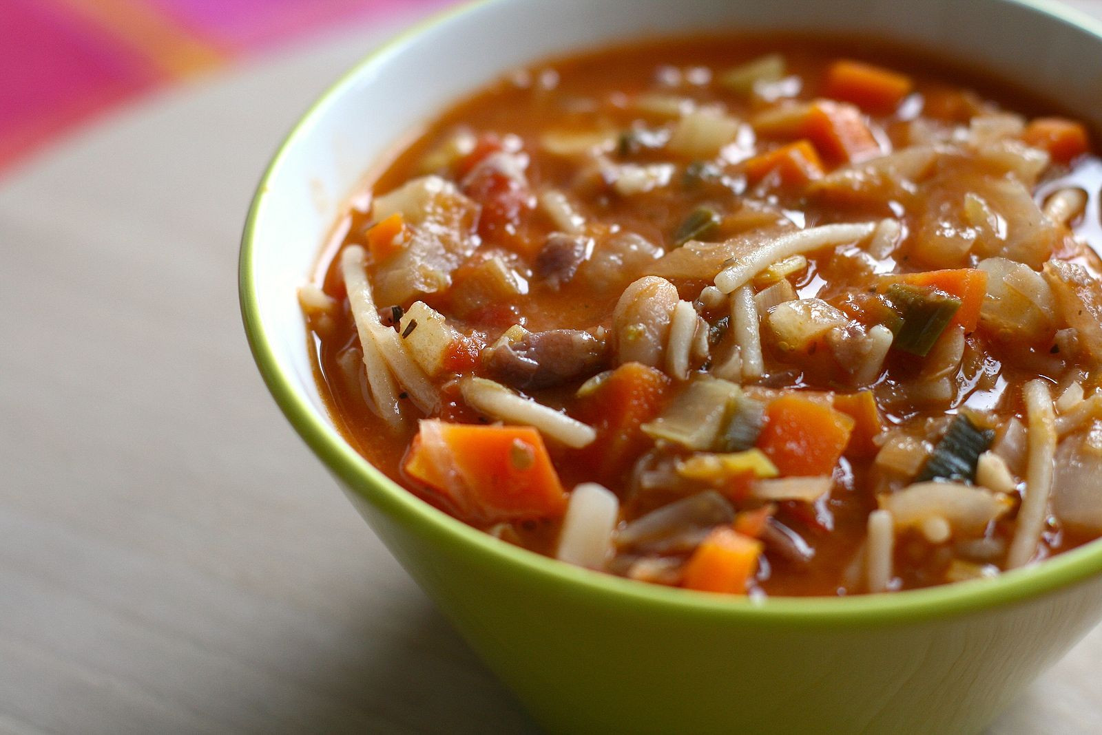 Italian Minestrone Soup with Amish sausage