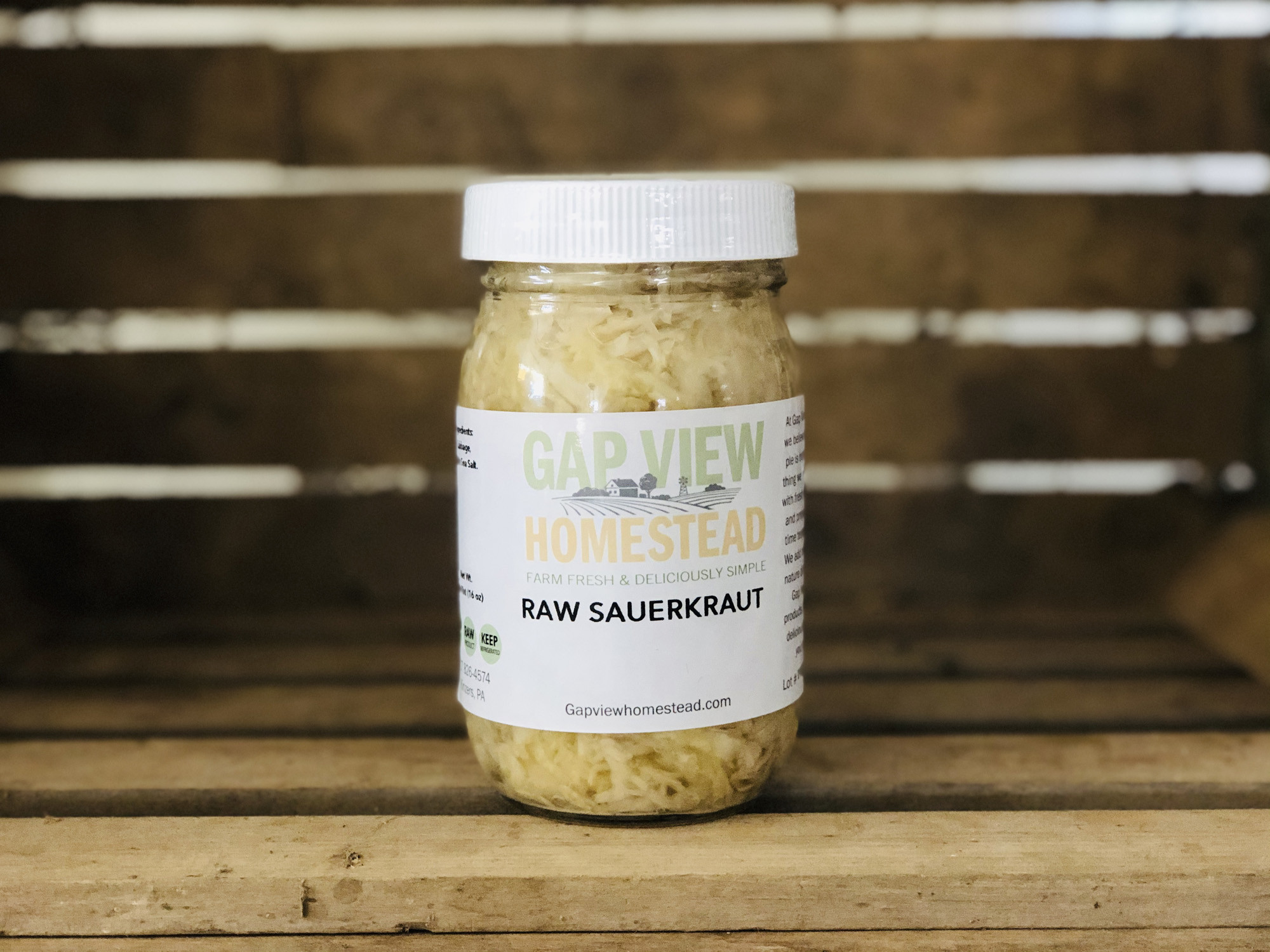 1 pint - Sauerkraut (Glass)