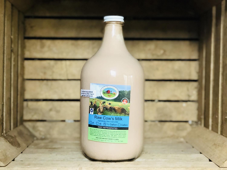 Chocolate A2 Milk, 1/2 gallon (Glass)