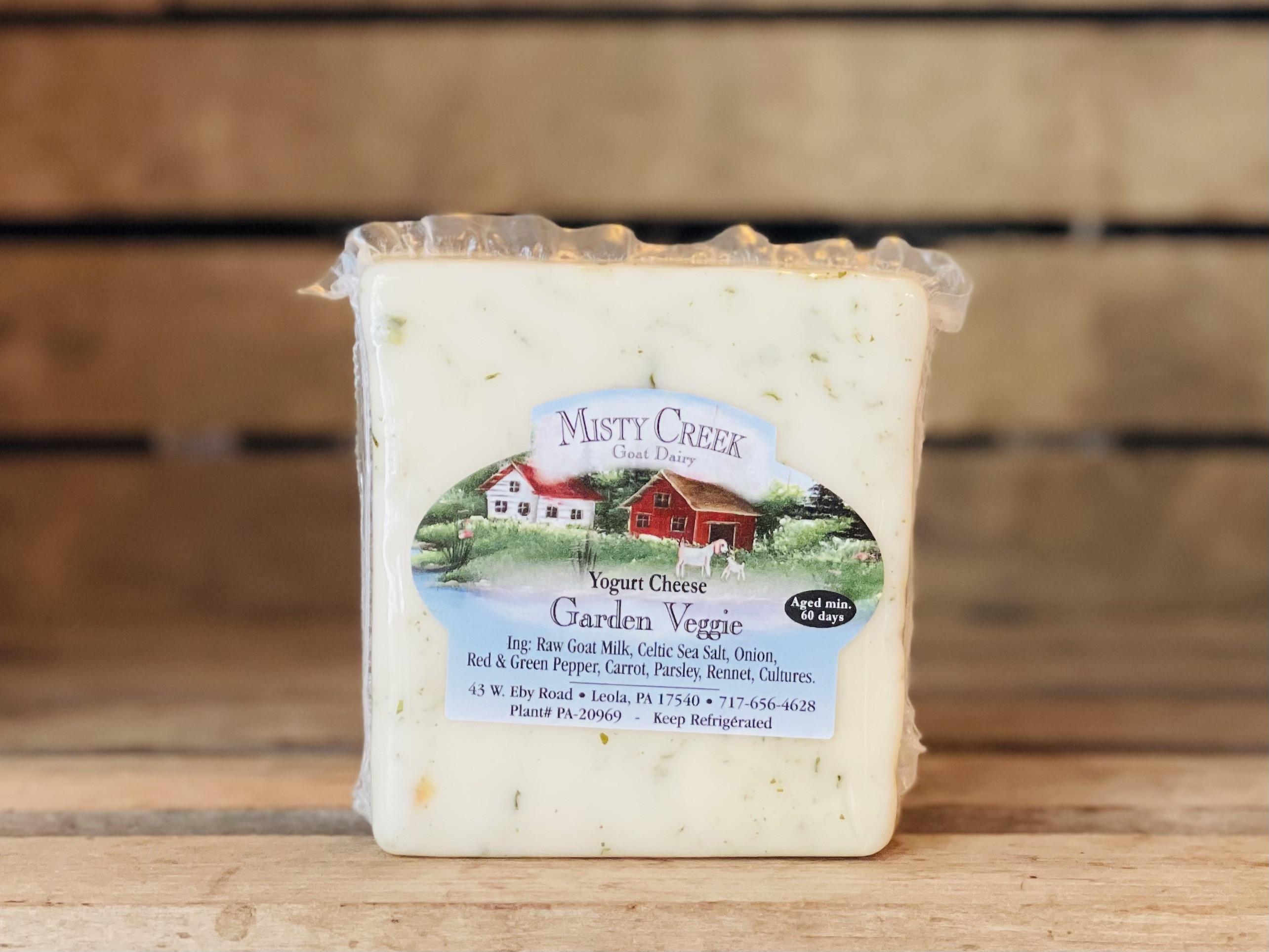 8oz Raw Goat Garden Veggie Yogurt Cheese