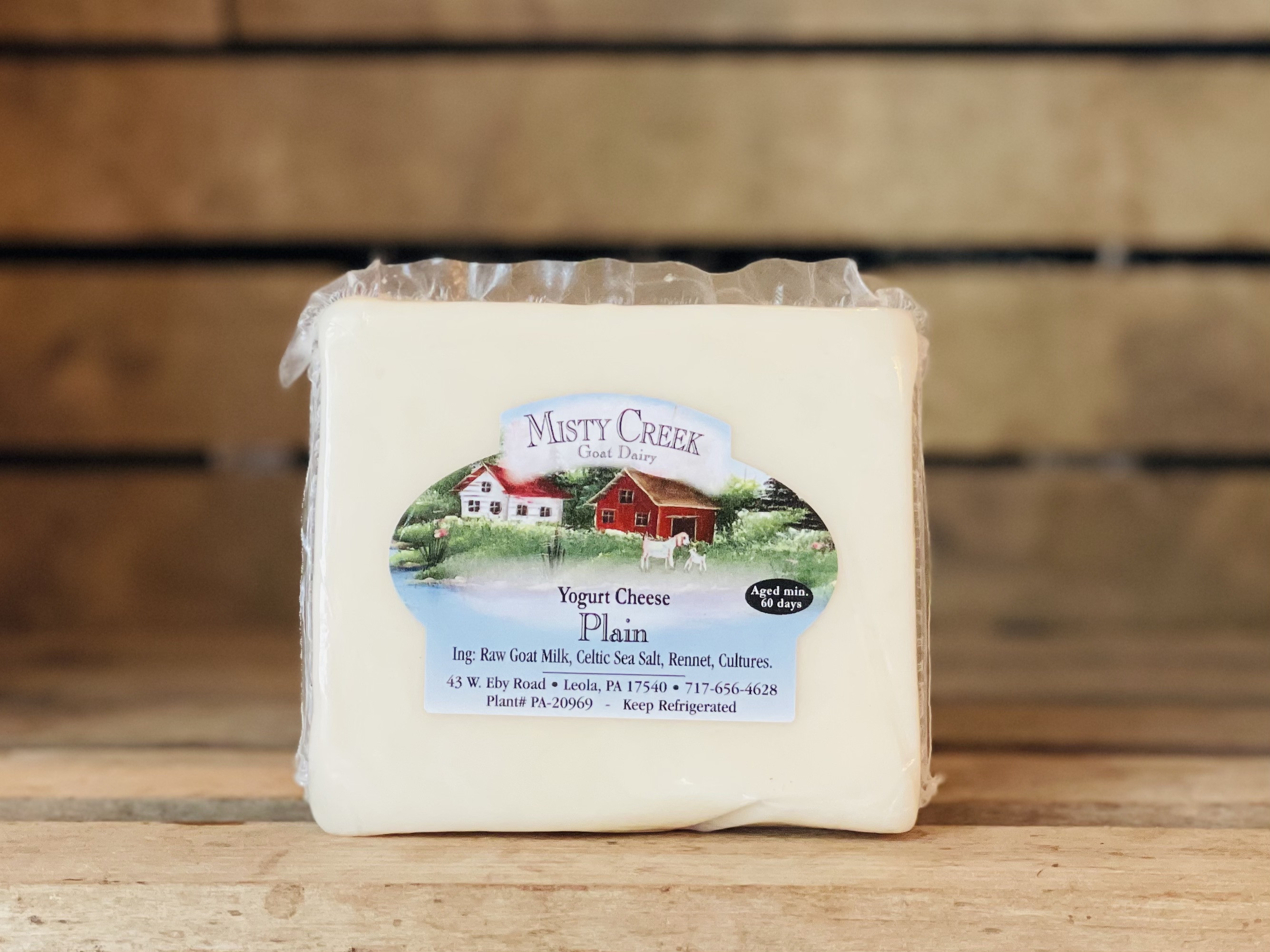 8oz Goat Plain Yogurt Cheese