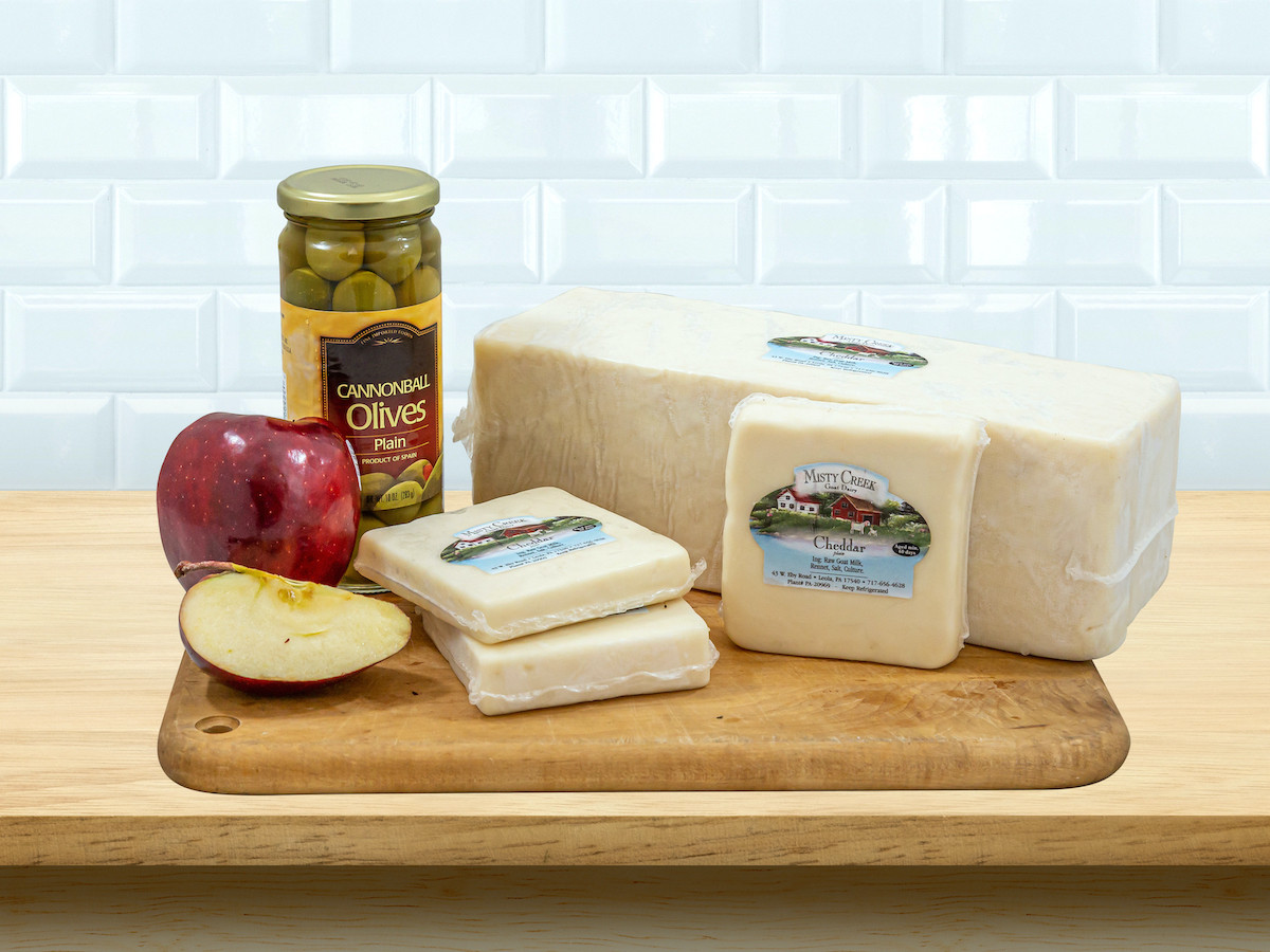 8oz Goat Cheddar Cheese