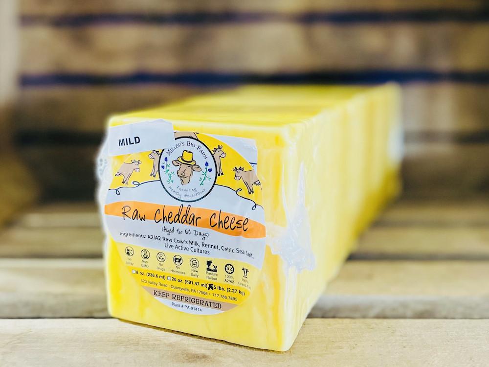 Big Raw A2 Mild Cheddar Cheese Block