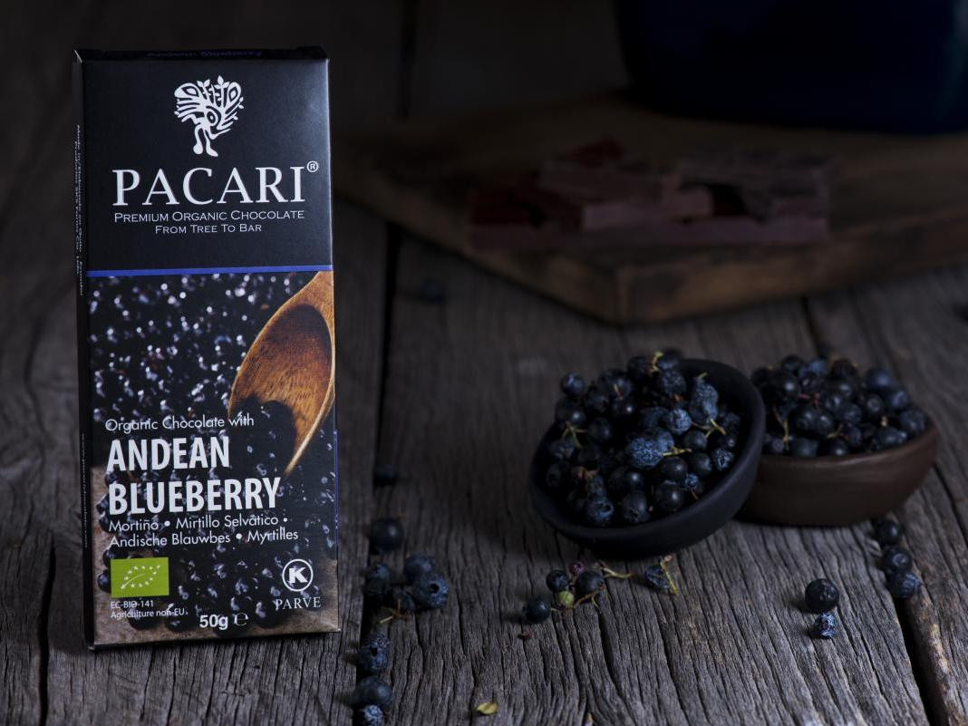 Andean Blueberry Organic Chocolate Bar