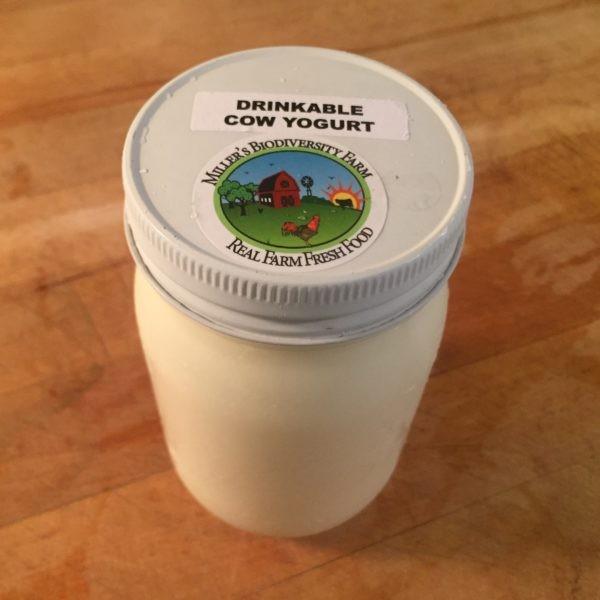 A2 COW Drinkable Yogurt, Plain, Raw (Glass)