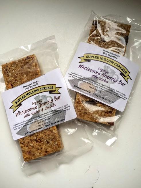 Granola Bars, Raisins & Almonds