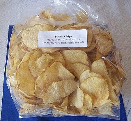 Homemade Potato Chips (Made with Pork Lard)