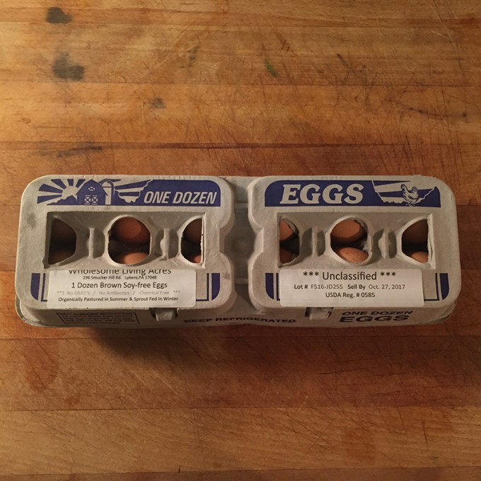 Chicken Eggs, Soy Free, Brown