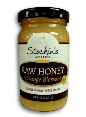 Honey, Raw Orange Blossom (Glass)