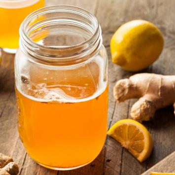 Kombucha Tea, Lemon Ginger