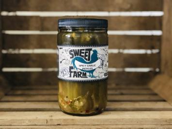 Spicy Garlic Pickles, 1 quart