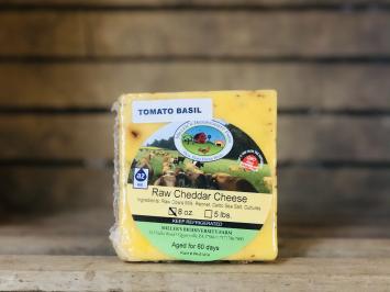 Tomato Basil A2 Cheddar Cheese, 8oz