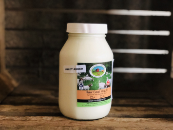 Honey Drinkable Goat Yogurt, 1 quart (Glass)
