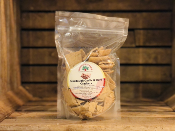 Garlic and Herb Sourdough Crackers, 8oz