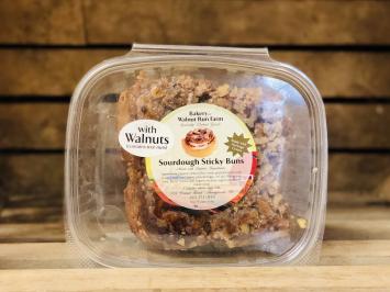 Einkorn Sourdough Sticky Buns with Walnuts