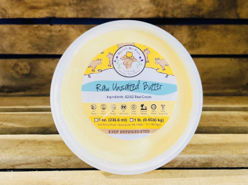 8oz Raw Unsalted A2 Butter