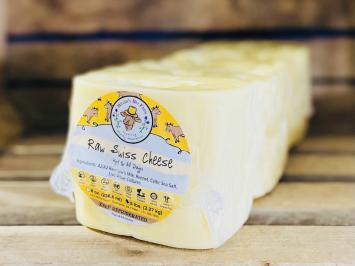 Big Raw A2 Swiss Cheese Block
