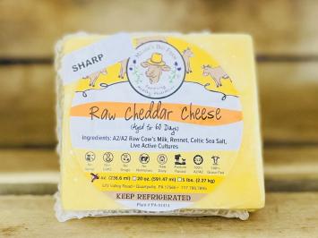 8oz Raw Sharp A2 Cheddar Cheese
