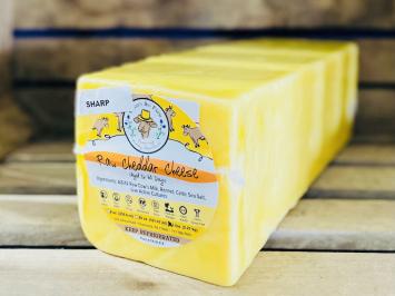 Big Raw A2 Sharp Cheddar Cheese Block