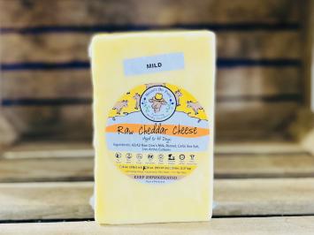 20oz Raw Mild A2 Cheddar Cheese