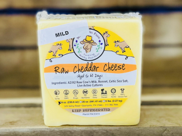 8oz Raw Mild A2 Cheddar Cheese