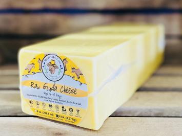 Big Raw A2 Fresh Gouda Cheese Block
