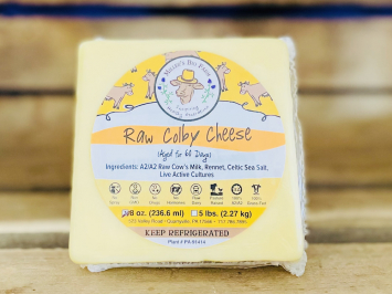 8oz Raw A2 Colby Cheese