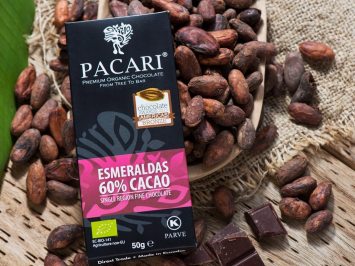 Esmeraldas 60% Organic Chocolate Bar