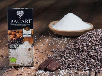 Cuzco Pink Salt & Nibs Organic Chocolate Bar