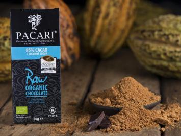 Raw 85% Organic Chocolate Bar