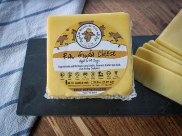 8oz Raw A2 Fresh Gouda Cheese