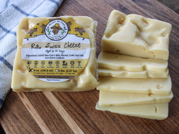 8oz Raw A2 Swiss Cheese