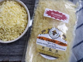 8oz Raw Shredded A2 Cheddar Cheese