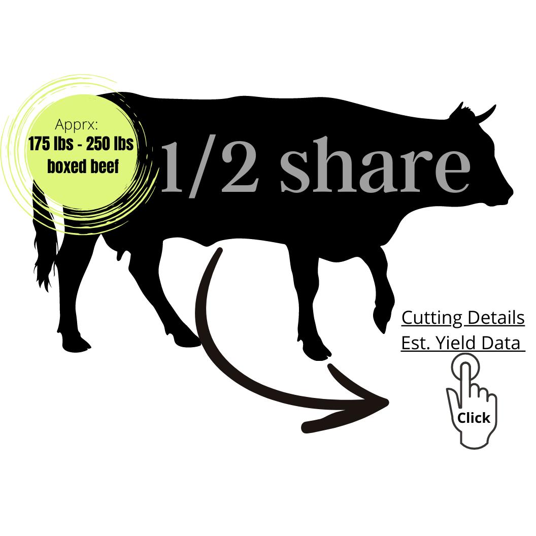 HALF SHARE - $200.00 Deposit - $5.85/lb