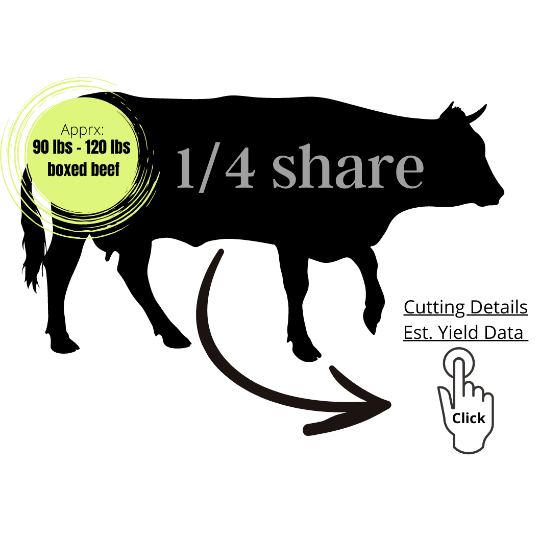 QUARTER SHARE - $100.00 Deposit - $5.85/lb