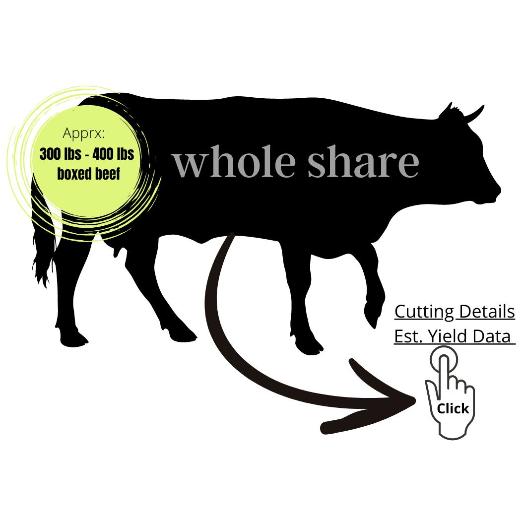 WHOLE SHARE - $350.00 Deposit  $5.85/lb